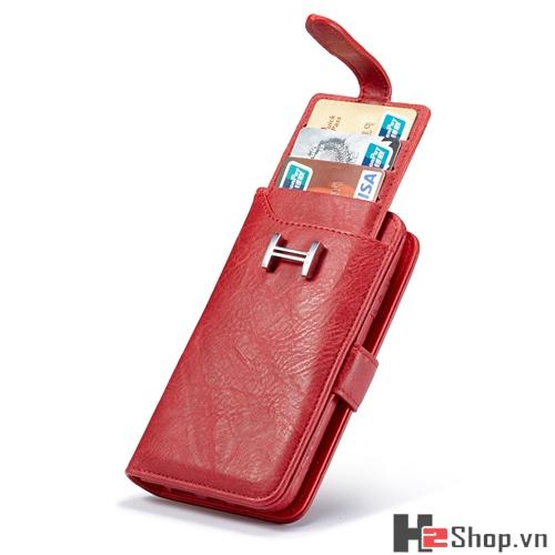BAO DA DẠNG VÍ 2 IN 1 CHO IPHONE 3 MÀU ( Đen/Nâu/ Đỏ) H2SHOP - 1